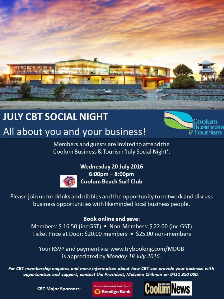 July Social Night Invite